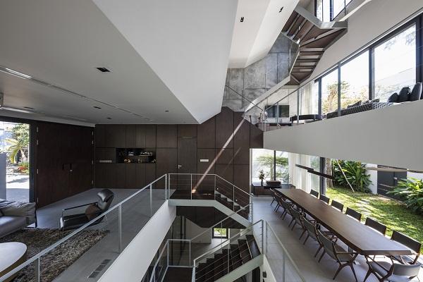 không gian xếp chồng lạ mắt trong thiết kế nhà phố