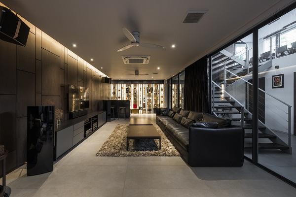 phòng khách cho thiết kế nhà phố đẹp
