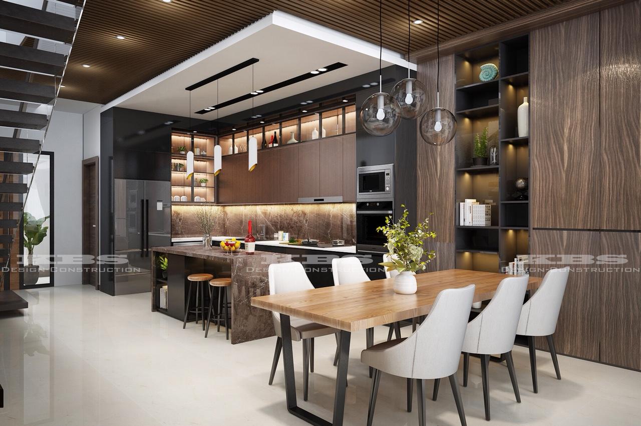 phòng bếp đẹp cho nhà phố