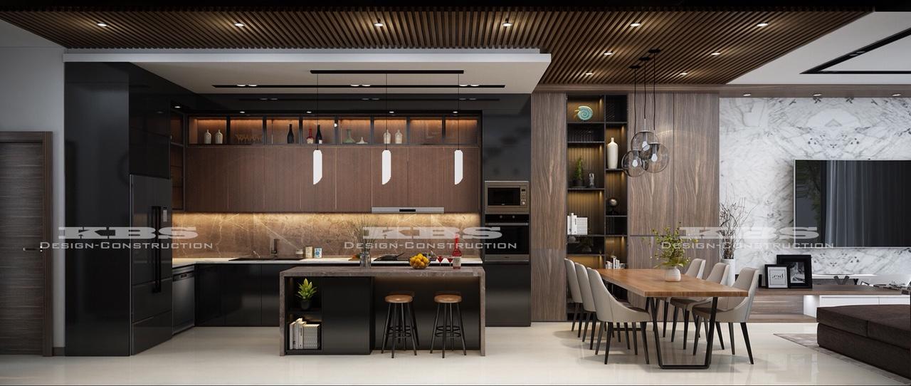 phòng bếp hiện đại cho biệt thự nhà phố đẹp