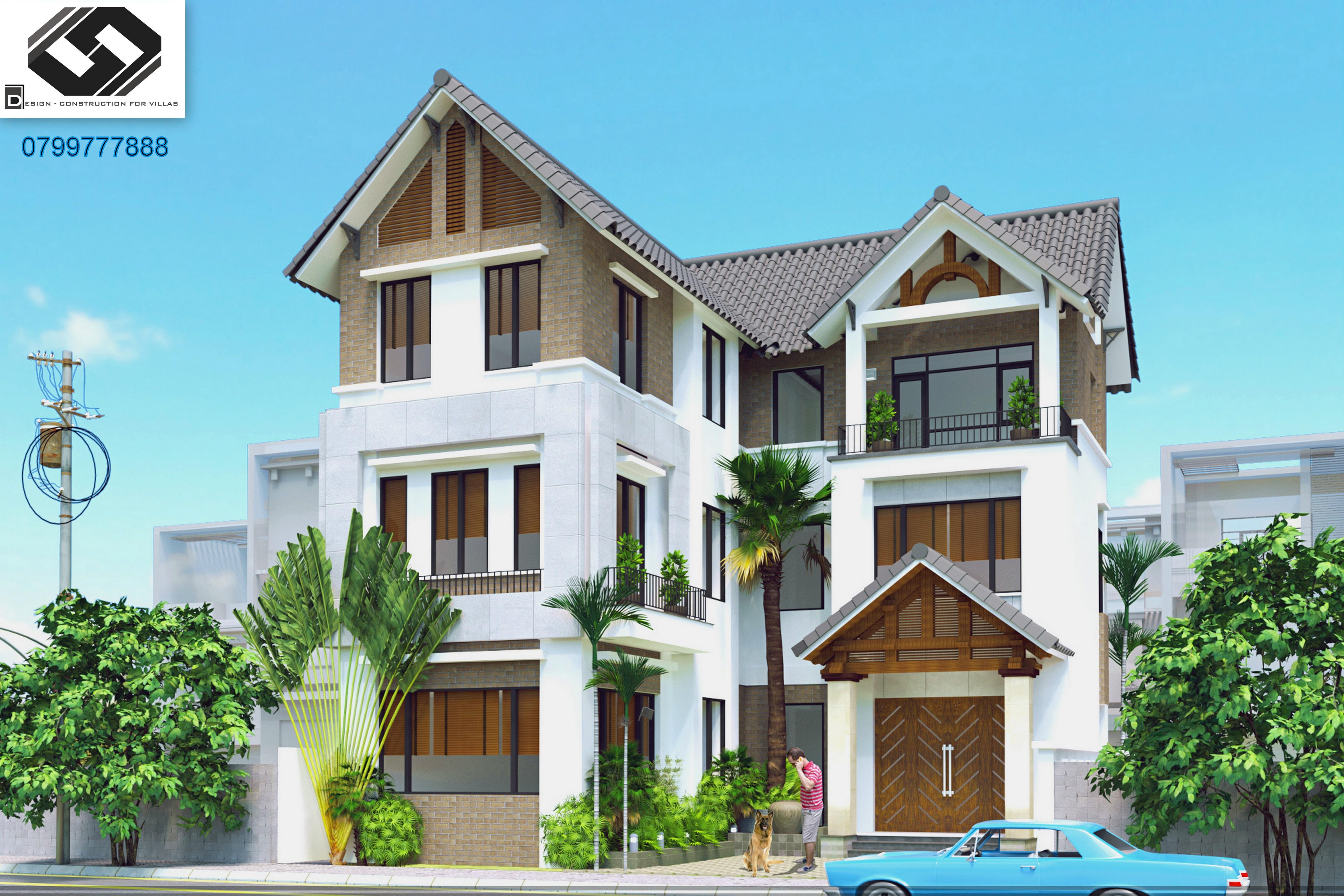 thiết kế biệt thự kiến trúc đẹp