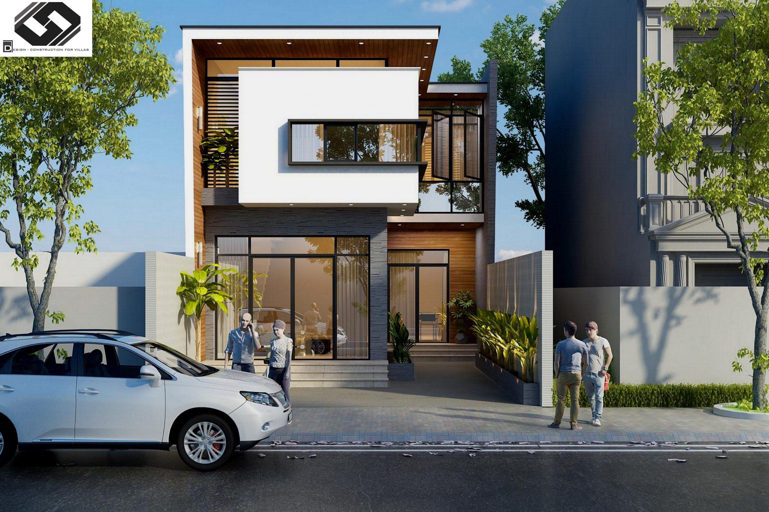 mẫu nhà phố mặt tiền 5m 2 tầng